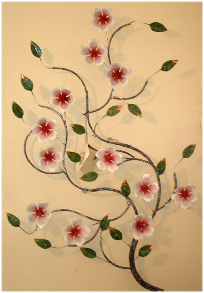 spring blossom metal wall sculpture