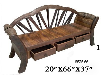 barrel benches, wagon wheel benches, rustic benches