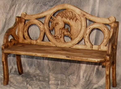 Wood Carved Benches For Sale