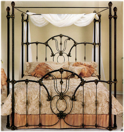 Elliottu0027s Designs Tiffany 403 Wrap Canopy Bed wrought rod iron beds antique bed reproductions camas de hierro forjado & Elliottu0027s Designs Tiffany 403 Wrap Canopy Bed wrought rod iron ...