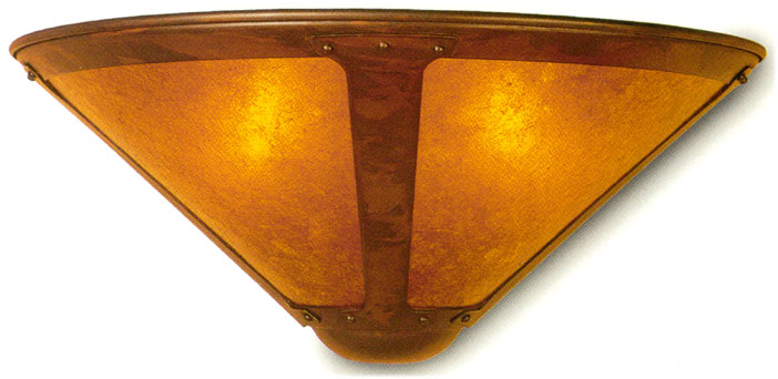 Mica Lamps Wall Sconces # 120 & # 121 Copper and mica wall fixtures made in the USA Lamps