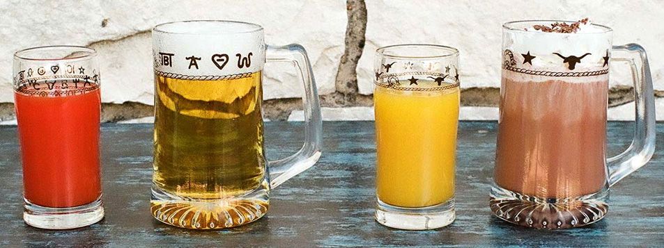 western Beer glasses / Mugs