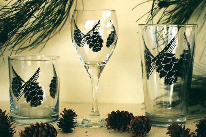 Pine Cone  glasses / Mugs