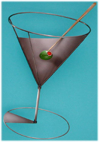 neat martini 210777 liquor martini glass metal wall sculpture