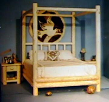 Lodge Pole Canopy Bed