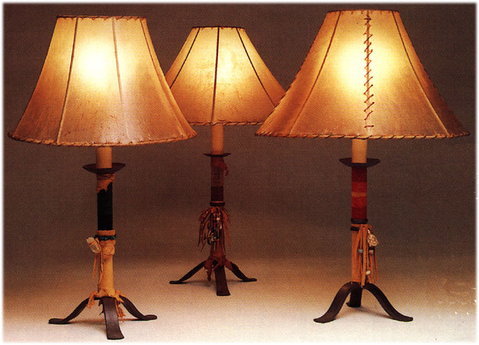 Native american iron table lamps prices beaded leather table lamps aloadofball Gallery