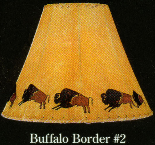 Hand Painted Limited Edition Lamp Shades BUFFALO BORDERs