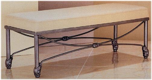 Wesley Allen, foot bed bench, AI1530 Iron bed Bench, bedroom furniture