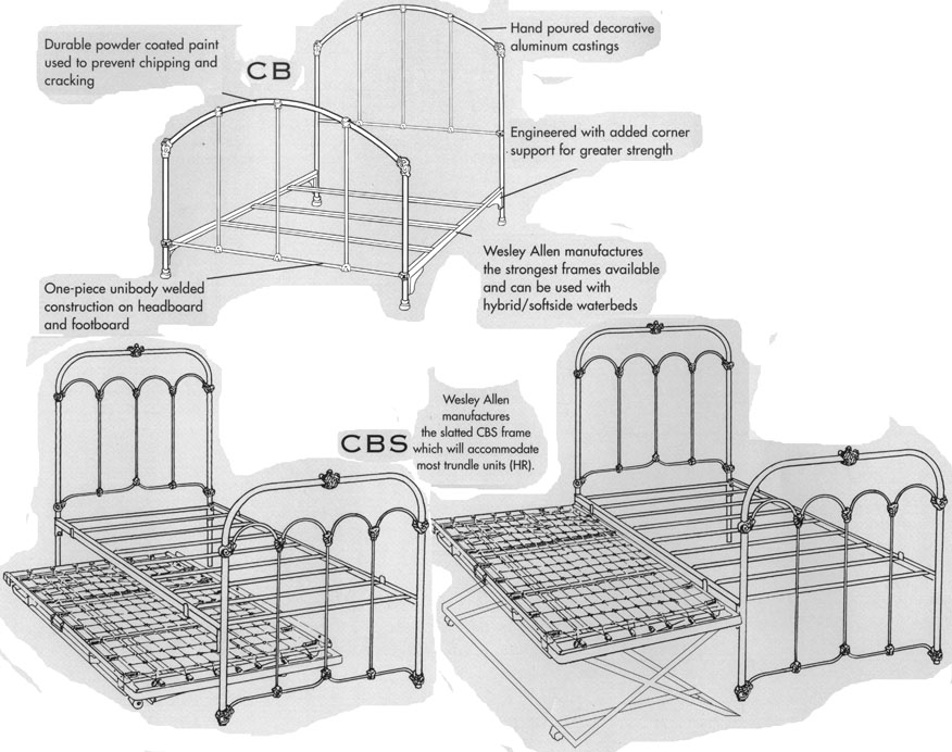 Wesley Allen Twin Bed Collection